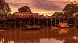 Echuca wharf sunset